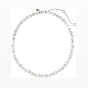 Madewell disc chain necklace light silver ox color